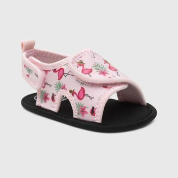 Ro+me By Robeez Baby Girls' Flamingo Ankle Strap Sandals