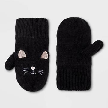 Toddler Girls' Cat Mitten - Cat & Jack Black