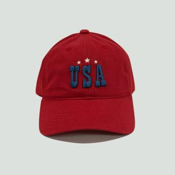 Concept One Men's Americana Usa Dad Baseball Hat - Red