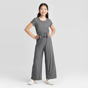 Girls' Metallic Jumpsuit - Art Class Black