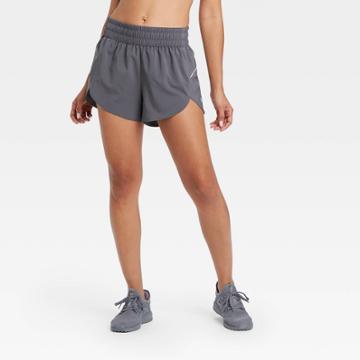 Women's Mid-rise Run Shorts 3 - All In Motion Dark Gray