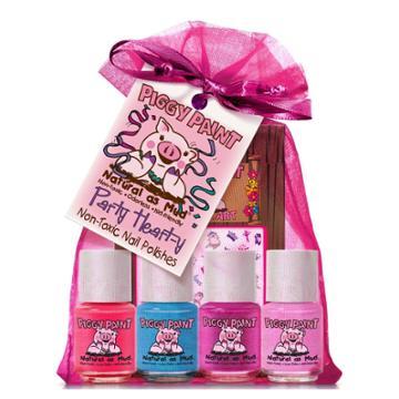 Piggy Paint Nail Polish Set - Party Heart-y - 4pk/0.25 Fl Oz Each +