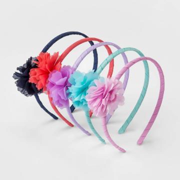 Toddler Girls' 5pk Chiffon Flower Headband Set - Cat & Jack