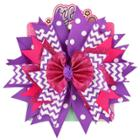 Lily Frilly Hair Bow - Purple