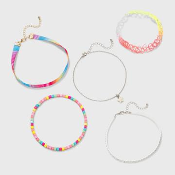 Girls' Choker Set With Star Charm And Stone - Cat & Jack , Grey