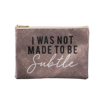 Ruby+cash Glitter I Was Not Made To Be Subtle Makeup Pouch -