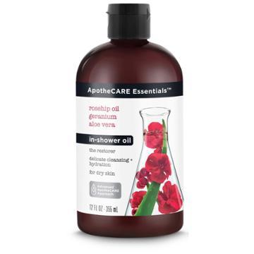 Apothecare Essentials With Rosehip Geranium Aloe Vera In - Shower Oil