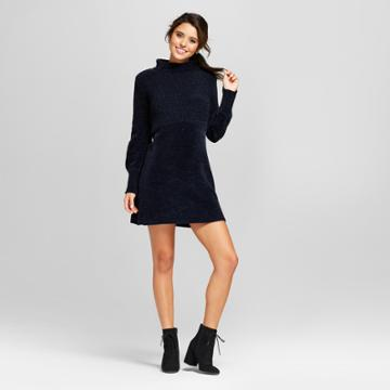 Women's Long Sleeve Sweater Dress - Xhilaration Blue