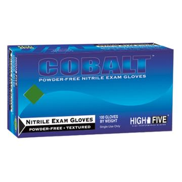 High Five Nitrile Exam Gloves Cobalt -
