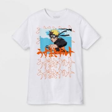 Men's Naruto Short Sleeve Graphic T-shirt - White S, Men's,