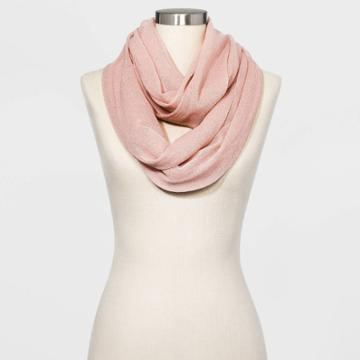Women's Infinity Scarf - A New Day Smoked Pink One Size, Women's