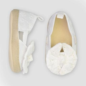 Baby Girls' Eyelet Espadrille - Just One You Made By Carter's White 0-3m, Girl's,