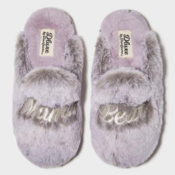 Women's Dluxe By Dearfoams Mama Bear Slide Slippers - Gray S, Women's,