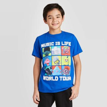 Petiteboys' Trolls Short Sleeve T-shirt - Xs, Boy's, Blue