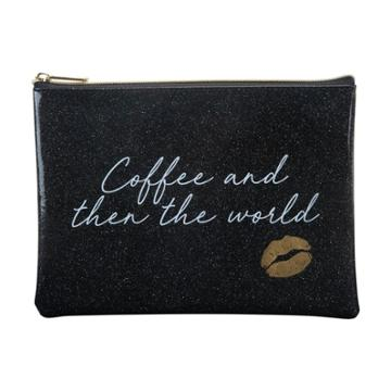 Ruby+cash Coffee And Then... Makeup Pouch - Black