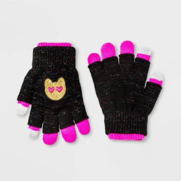 Accessory Innovations Girls' Emoji Gloves - Black