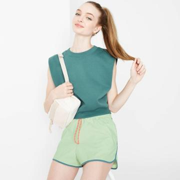 Women's Woven Dolphin Shorts - Wild Fable Green
