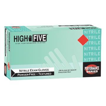 High Five Nitrile Exam Gloves Blue -