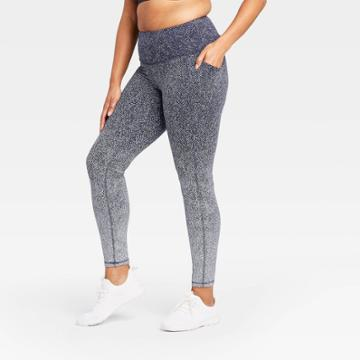 Women's Premium High-rise Jacquard 7/8 Leggings 27 - All In Motion Navy Ombre Xs, Women's, Blue Ombre