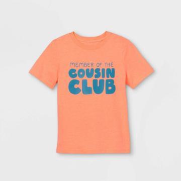 Kids' 'cousin Crew' Short Sleeve Graphic T-shirt - Cat & Jack Moxie Peach