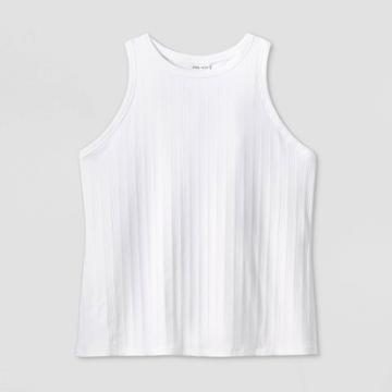 Women's Plus Size Ribbed Tank Top - Ava & Viv White X, Women's