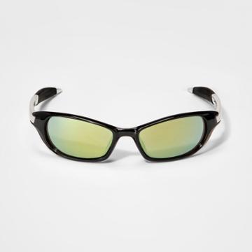 Boys' Wrap Around With Mirrored Lens - Cat & Jack Black