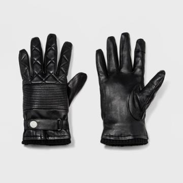 Men's Leather Glove Gloves - Goodfellow & Co Black