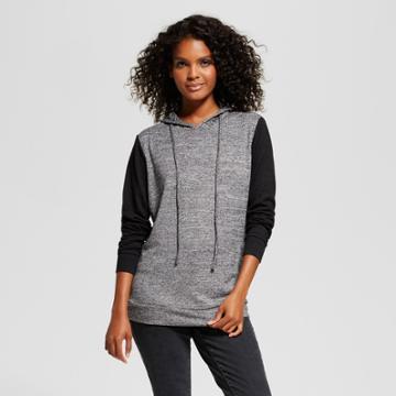 Women's Colorblocked Pullover Hoodie - Alison Andrews Black/gray M,