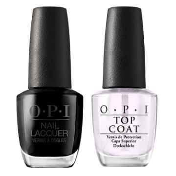 Opi Nail Laquer Black Onyx/top Coat - 2pk, Adult Unisex, Black Black/top Coat