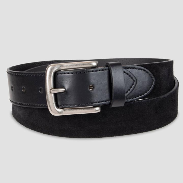 Men's 35mm Suede Belt With Tonal Tab And Tip - Goodfellow & Co Black M, Men's,