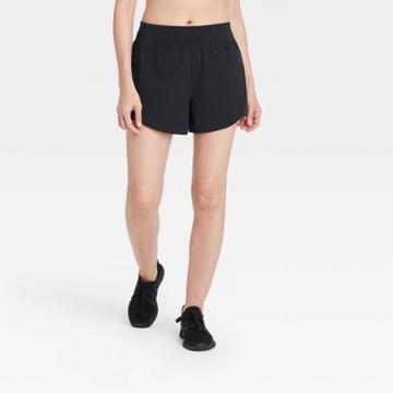 Women's Premium Knit Waistband Run Shorts - All In Motion Black