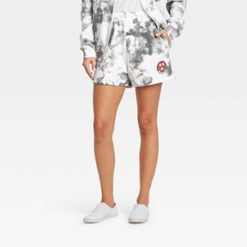 Women's Harvard Athletic Graphic Jogger Shorts - Gray
