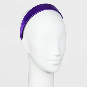 Satin Covered Wide Headband - A New Day Purple