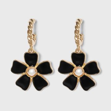 Sugarfix By Baublebar Flower Drop Earrings - Black