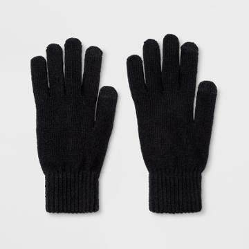 Men's Knit Touch Tech Glove Gloves - Goodfellow & Co Black