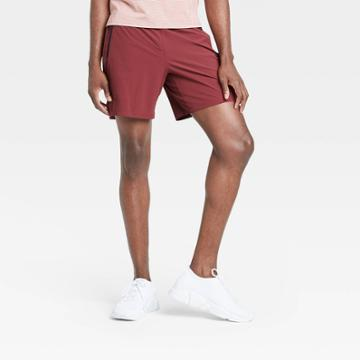 Men's Stretch Woven Shorts - All In Motion Red S, Men's,