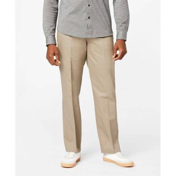 Dockers Men's Signature Stretch Creaseless Flat Front Classic Fit Straight Chino Pants - Khaki