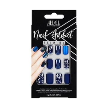 Ardell Nail Addict False Nails Matte Blue - 24ct, Adult Unisex
