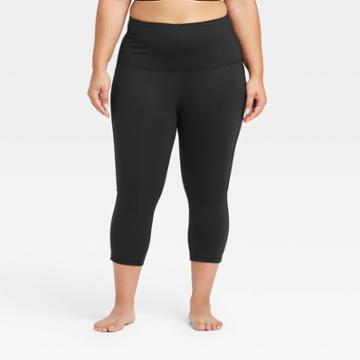 Women's Plus Size Contour Curvy High-rise Capri Leggings With Power Waist 20 - All In Motion Black 1x, Women's,