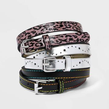 Kids' 3pk Leopard Printed Belt - Cat & Jack
