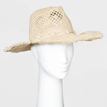 Women's Straw Rancher Hats - Universal Thread Natural One Size, Women's, Yellow