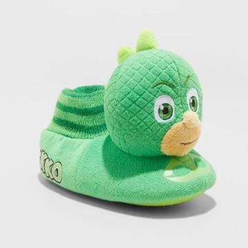 Toddler Boys' Pj Masks Sock Slippers - Green