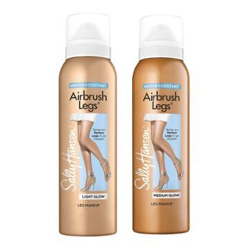Sally Hansen Airbrush Legs Spray - 01 Light Glow & 02 Medium Glow - 2pc/4.4 Fl Oz Ea