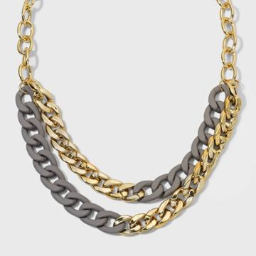 Matte Link Chain Necklace - A New Day Gold