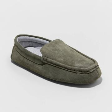 Men's Carlo Suede Moccasin Slippers - Goodfellow & Co Gray