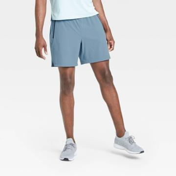 Men's Stretch Woven Shorts - All In Motion Blue Gray S, Men's,