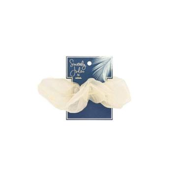 Sincerely Jules By Scunci Extra Large Organza Scrunchie - Cream, Beige