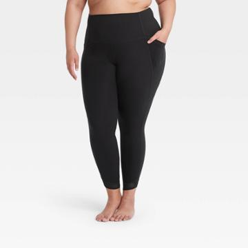 Women's Plus Size Contour Power Waist High-rise 7/8 Leggings 26 - All In Motion Black