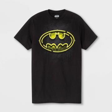 Warner Bros. Men's Batman Short Sleeve Graphic T-shirt - Black S, Men's,