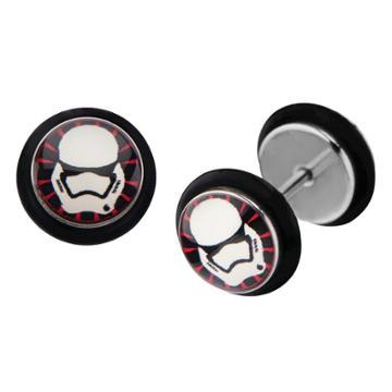 Women's Star Wars Episode 7 First Order Stromtrooper Screw Back Earrings, Adult Unisex, Size: